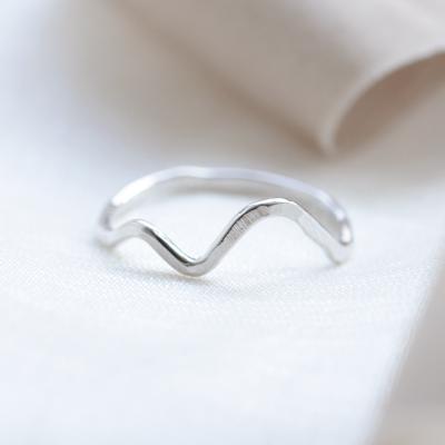 Gold mountain minimalist ring ALPINE