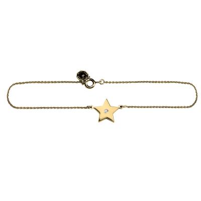 ANITA golden bracelet with a diamond