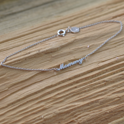 Personalised silver bracelet with name BEA