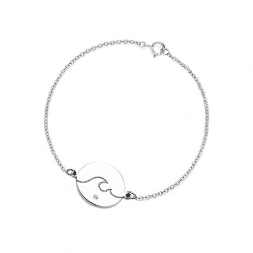 Silver bracelet with a diamond CANDICE