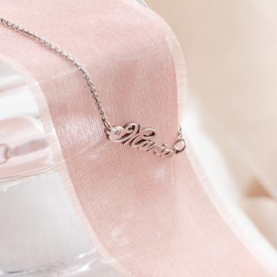 Name gold bracelet with diamond CLARI