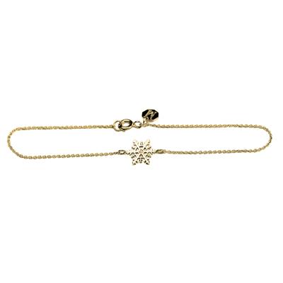 CORA gold bracelet with a diamond