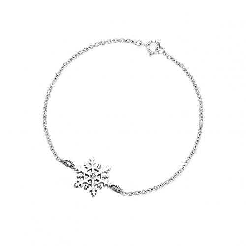 CORA silver bracelet with a diamond
