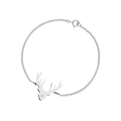 ELLEN golden bracelet with a diamond