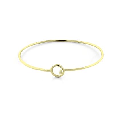 Solid gold open cuff bracelet FARET