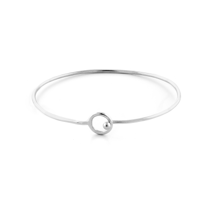 Sterling Silver open cuff bracelet FARET