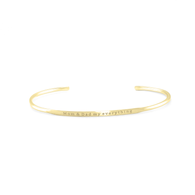 Solid golden bracelet with an accurate GRINDA engraving