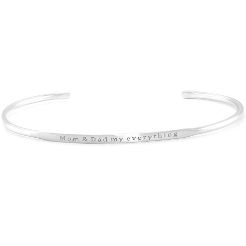 Solid silver bracelet with an accurate GRINDA engraving
