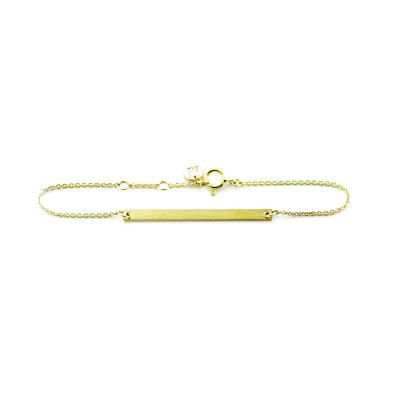 Minimalist gold bracelet with engraving Plofi