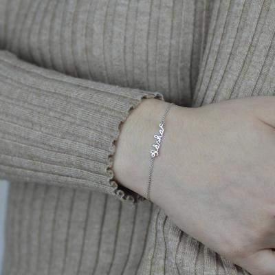 Gold bracelet with diamond TRISH