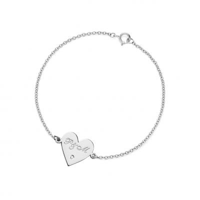 VICKY Silver bracelet with a diamond