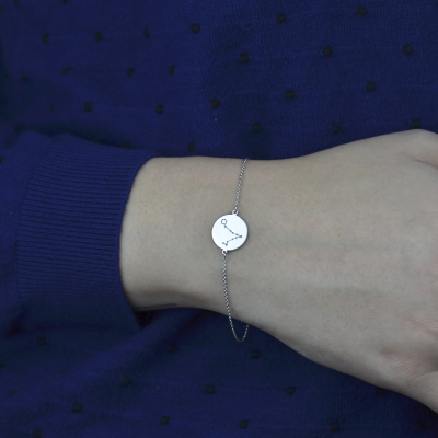 Silver bracelet with a zodiac constellation ZODIA