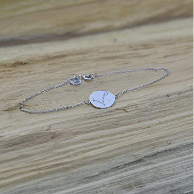 Silver bracelet with a zodiac constellation ZODIA