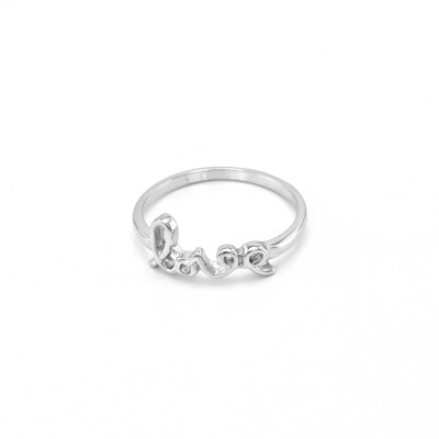 Sterling silver love ring ASKOY