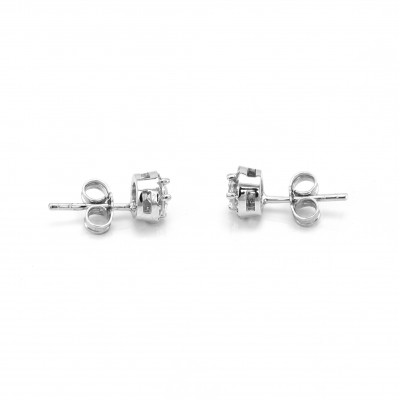 Classical gold stud earring with diamonds NINA