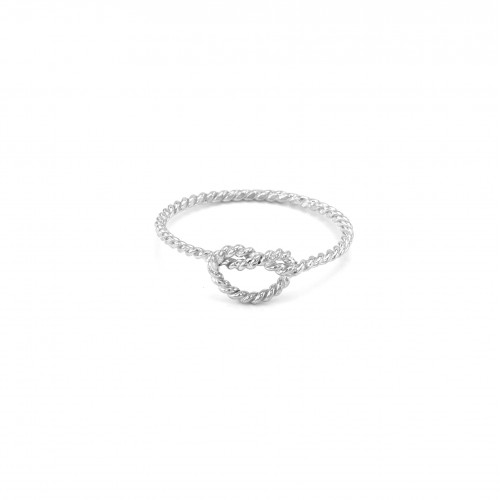 Original Sterling Silver and White Gold Knot ring NODE