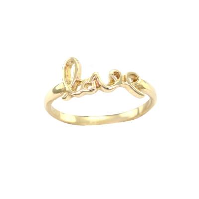 Originální prsten ze zlata láska ASKOY