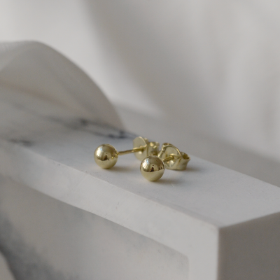Gold ball earrings ALIANO
