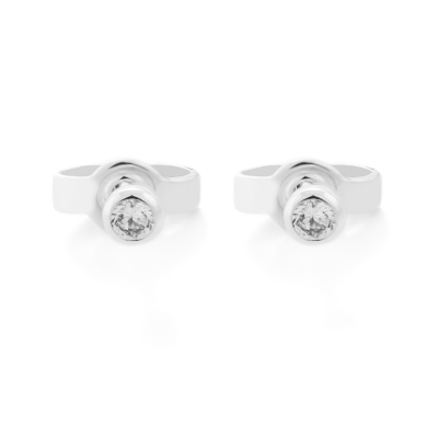 ANY Golden stud earrings with diamonds