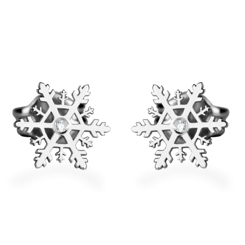 ARIANA silver earrings with a diamonds