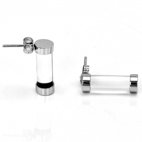 Exclusive Fuse Sterling Silver earring with rock-crystal