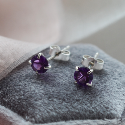 Gold amethyst earrings FELI