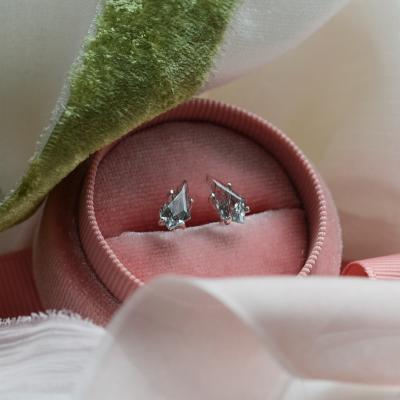 Gold rutil quartz earrings FELI