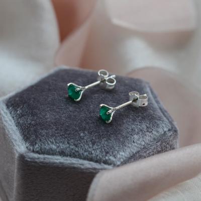Gold earrings with emeralds FELI
