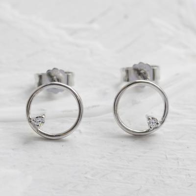 Gold karma earrings with diamonds GARURASANA