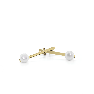 Gold earrings with pearls - Hakkola