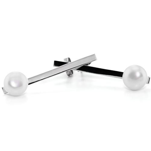 Silver earrings with pearls - Hakkola
