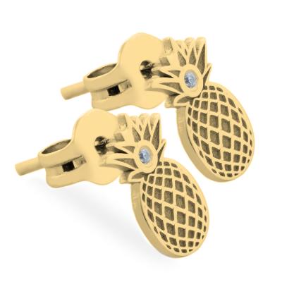 KATO fruity shape authentic gold diamond earrings