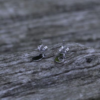 KATO fruity shape authentic silver diamond earrings