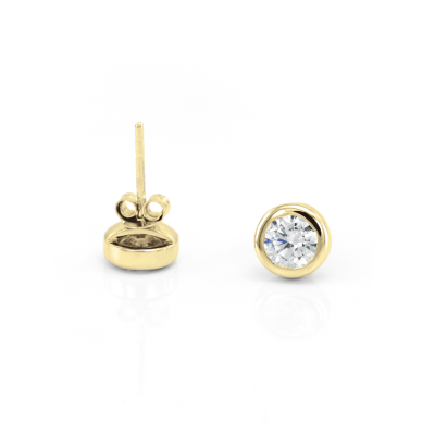 Simple gold earring with diamonds 0.6ct KLOFTA