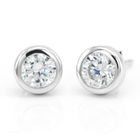 Simple Sterling Silver or gold earring with Zircon or diamond KLOFTA