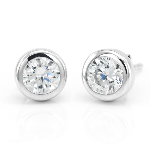 Simple Sterling Silver earring with Zircon KLOFTA