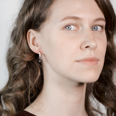 Gold or Silver earrings with hematite LAVRIK