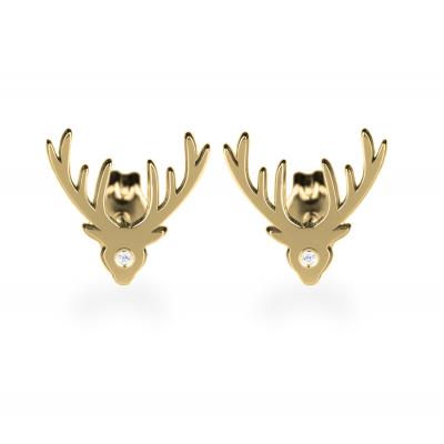 LOIS Gold earrings with a diamond