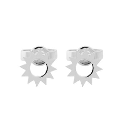 LOLLI unusual silver stud earrings for a striking lady