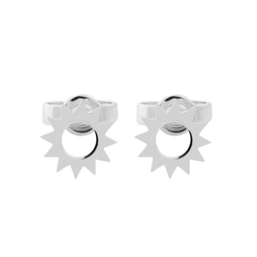 LOLLI unusual silver stud earrings for a striking lady