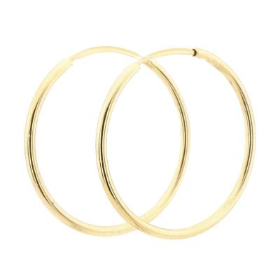 Zlaté kruhové náušnice MOZZA