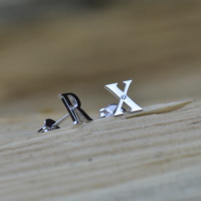 QUNTI name diamond earrings