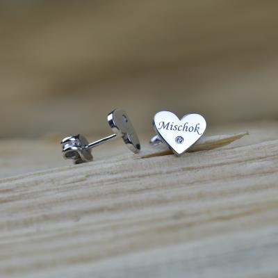 SVETTE name gold diamond earrings