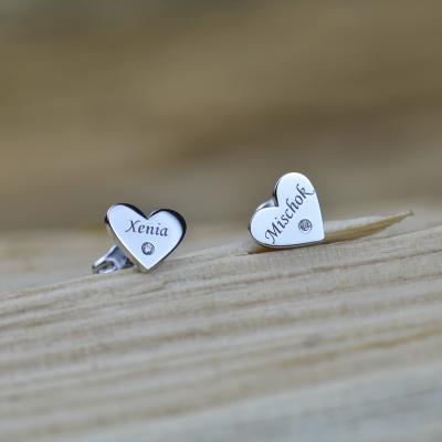 SVETTE name silver diamond earrings