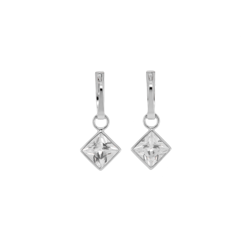 Gold/silver earrings with princess gems TUSSE