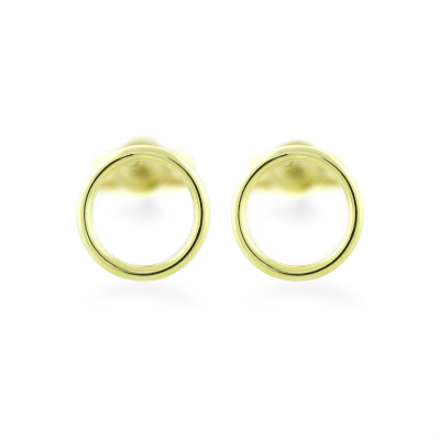 Gold karma earrings - USKE