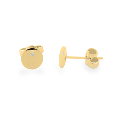 VIOLY gold and diamond stud earrings for everyday life