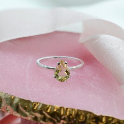Gold ring with lemon quartz BERTA