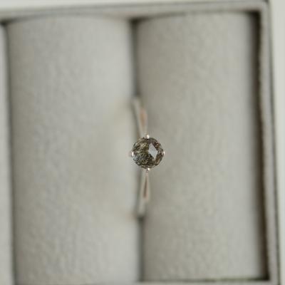 Zlatý minimalistický prsten s rutil quartzem BURGO