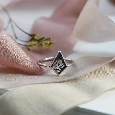 Gold ring with rutile quartz LORA